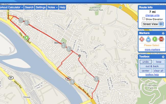 7 miles - 1 hour