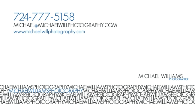Michael Williams Photography Business Card Design