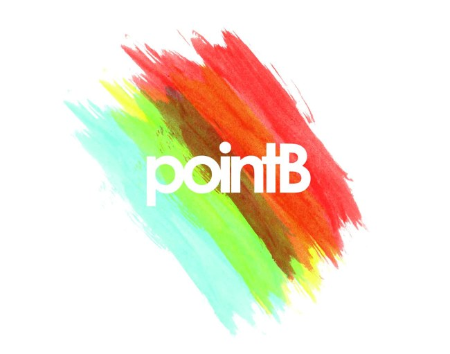 pointB event logo by michael williams
